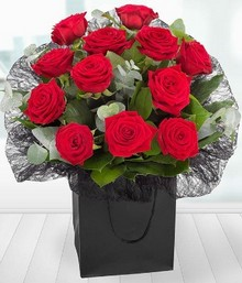 A Dozen Red Roses Gift Bag*