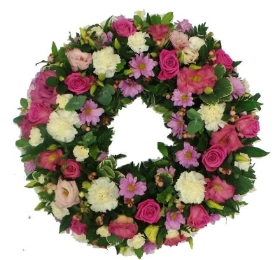 Pink & White  Loose Wreath