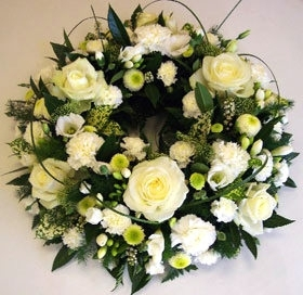 White Loose Wreath