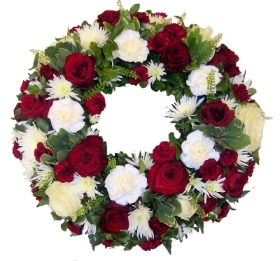 Wreath  Red & White