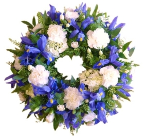 Wreath Blue & White